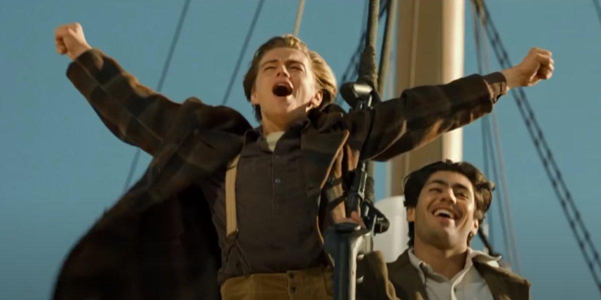 Leonardo DiCaprio and Danny Nucci in Titanic