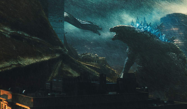 Godzilla: King of the Monsters Ghidorah and Godzilla face off in ruined Boston