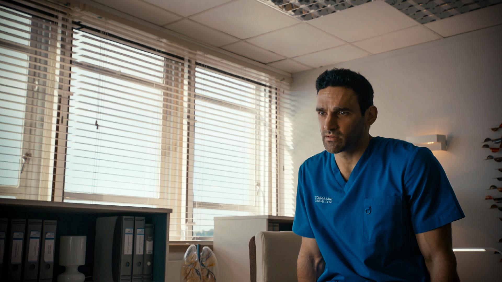 Davood Ghadami plays Eli Ebrahimi in Holby