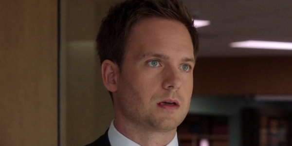 patrick j. adams mike ross surprised suits