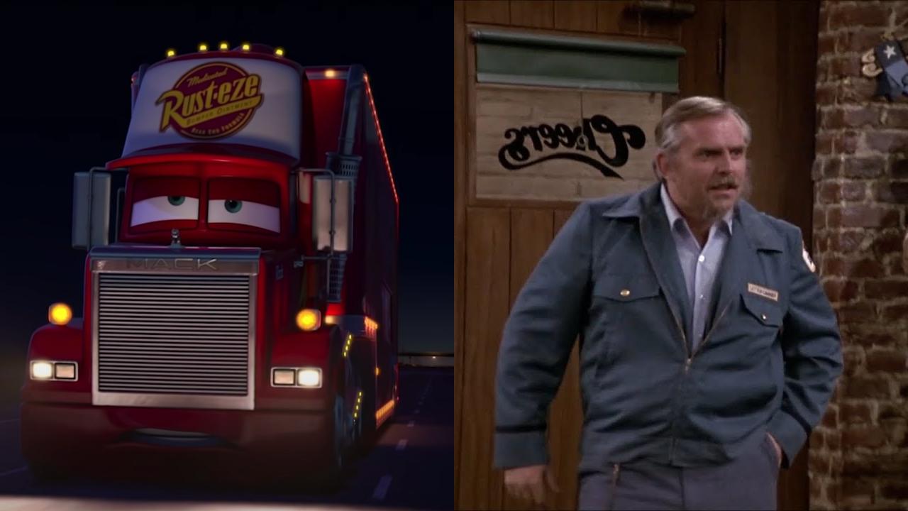 Mack in Cars; John Ratzenberger on Cheers