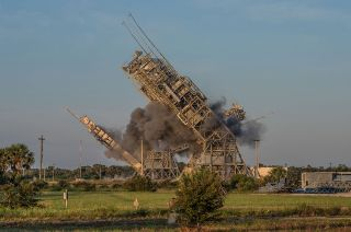 lc17 launch towers toppled