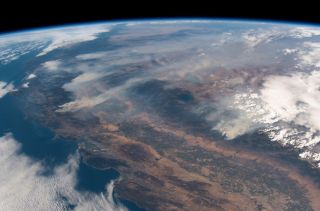 ESA Astronaut's View of California Fires