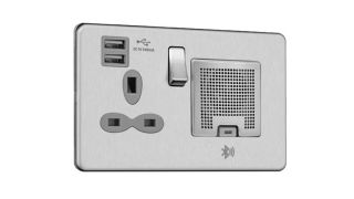 This USB plug socket has a built-in Bluetooth speaker!