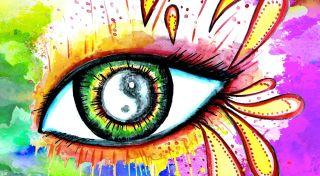 An artistic representation of the human eye