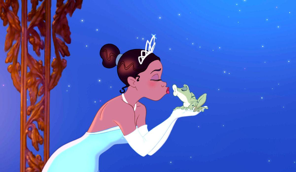 The Princess and the frog kiss scene