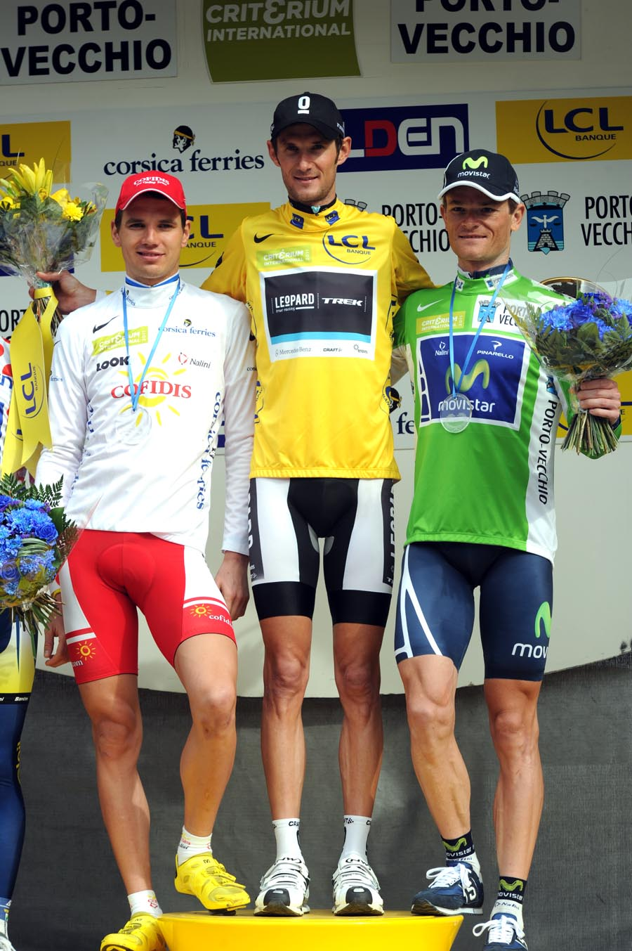 Frank Schleck wins overall, Criterium International 2011, stage three TT