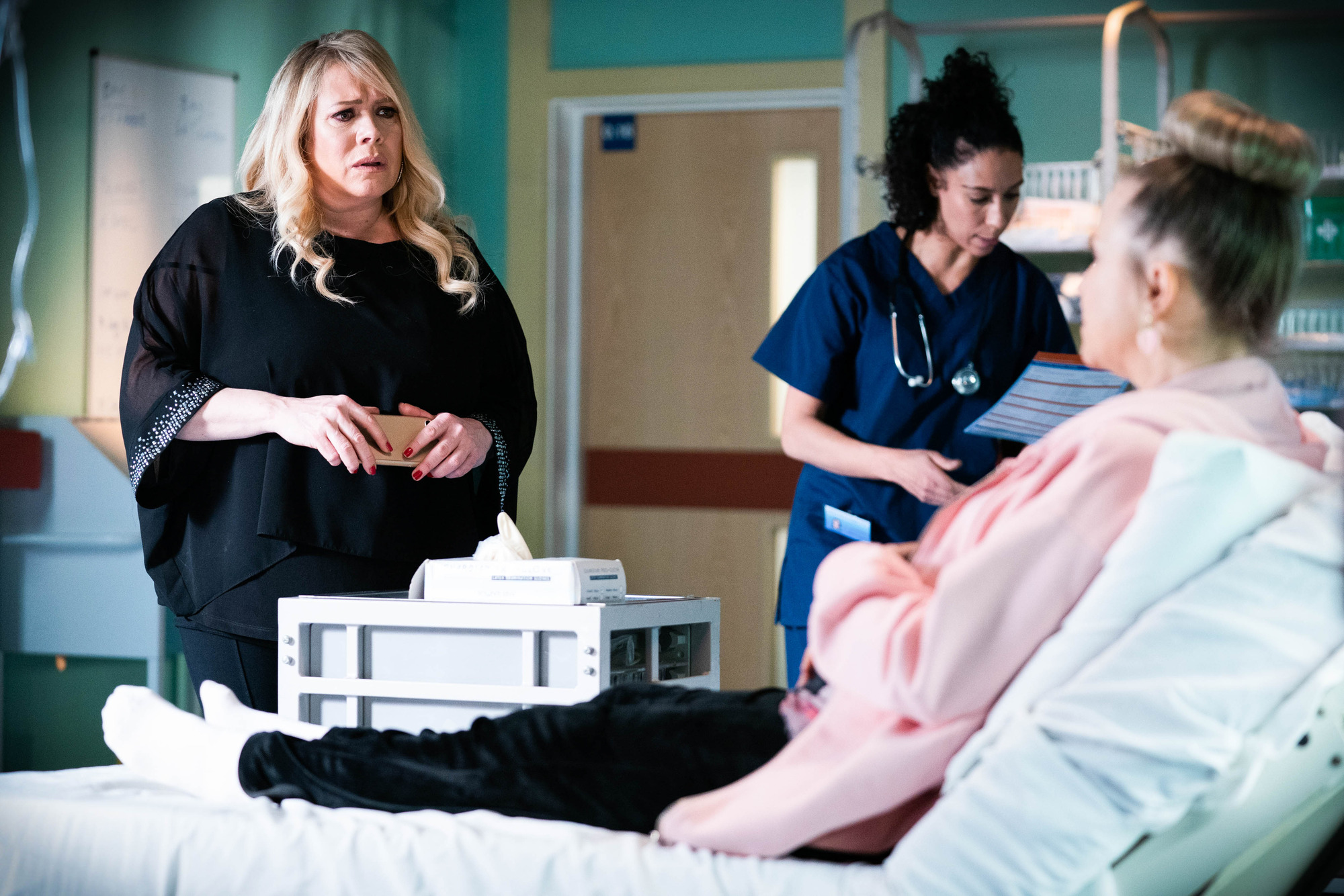 Linda Carter and Sharon Beale are in hospital in EastEnders
