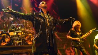 Rob Halford and Glenn Tipton onstage