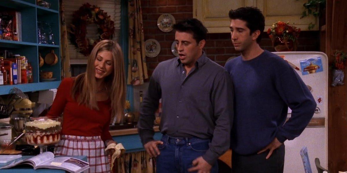 Jennifer Aniston, Matt LeBlanc, and David Schwimmer on Friends