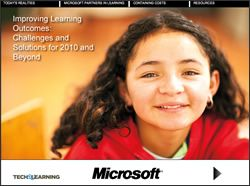 Improving Learning Outcomes: Challenges and Solutions for 2010 and Beyond