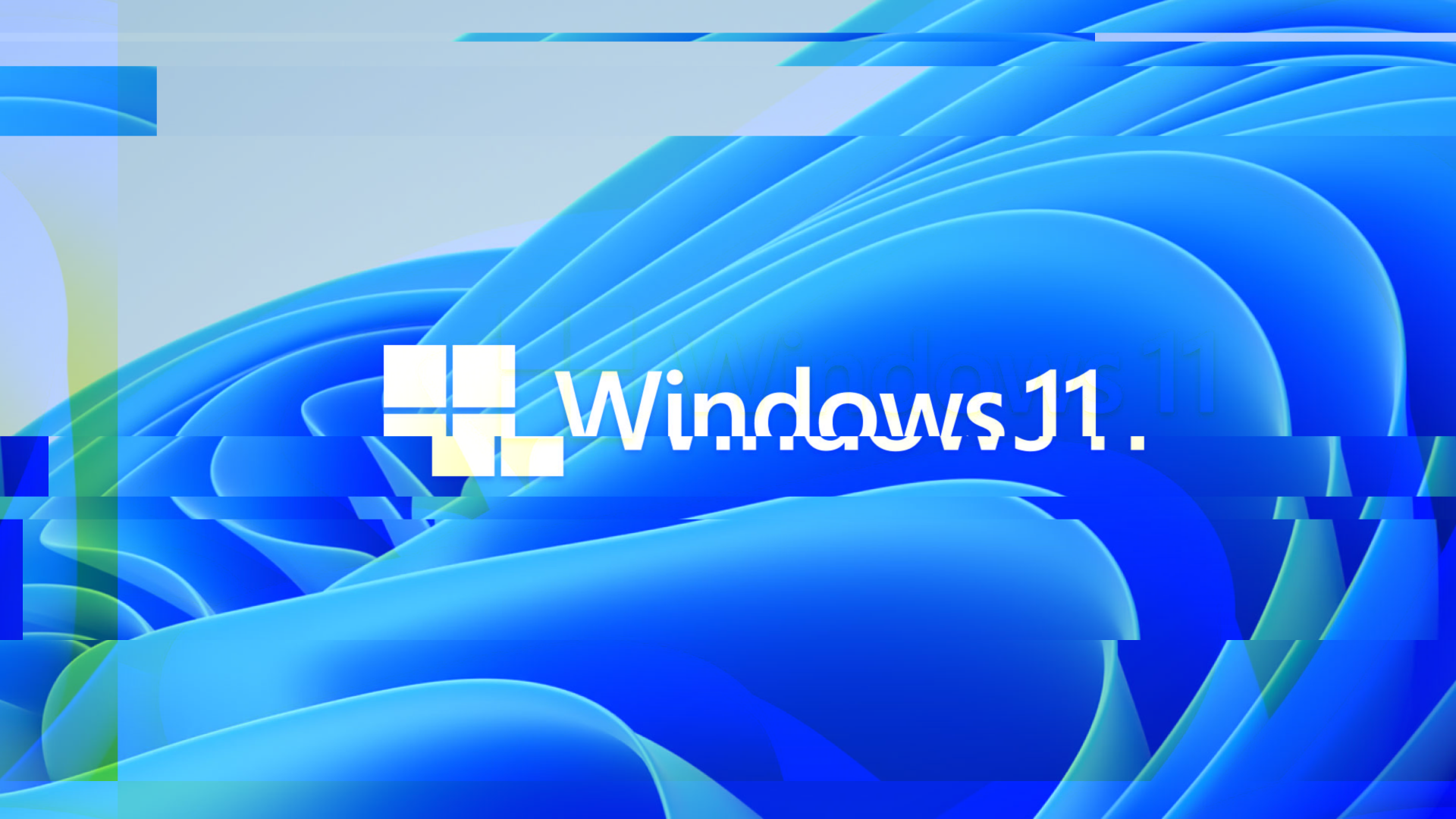 A glitchy version of the Windows 11 image