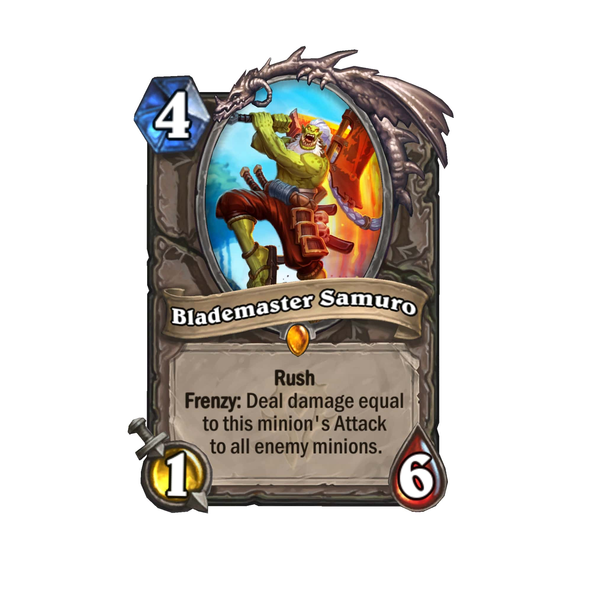 A card from Hearthstone's Forged in the Barrens set