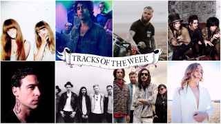 A collage of tracks of the weeks artists