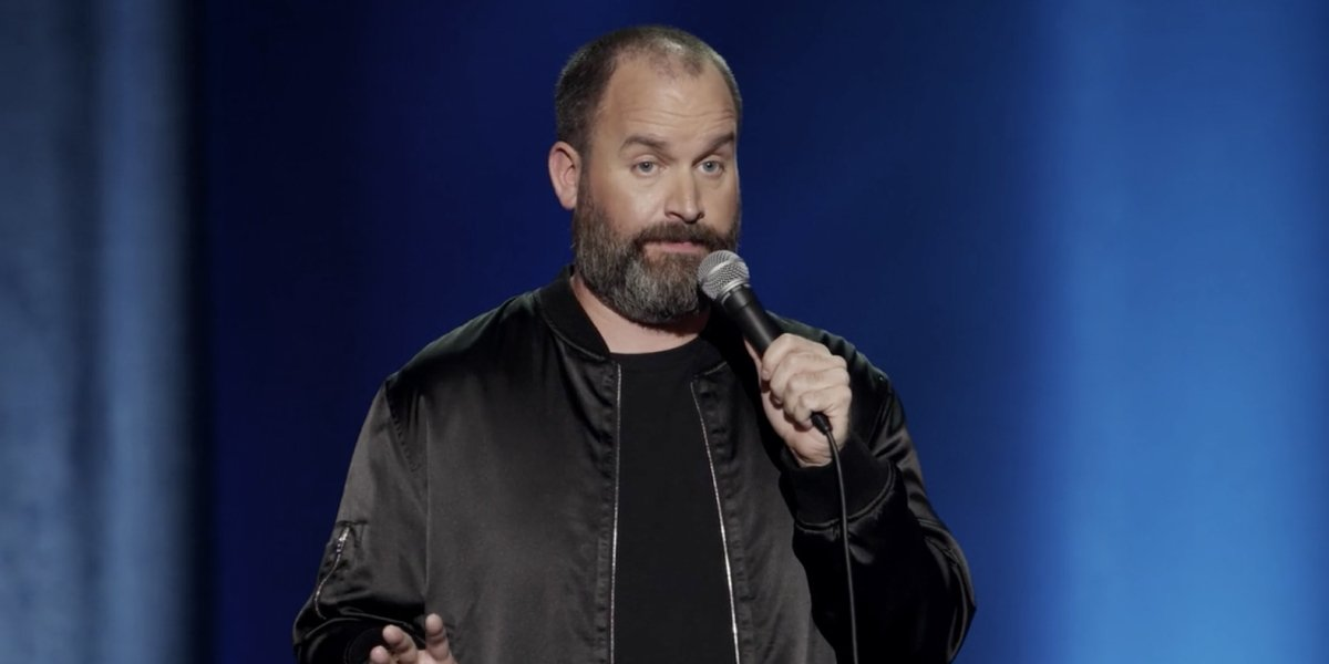 Tom Segura in his Netflix stand-up comedy special Disgraceful