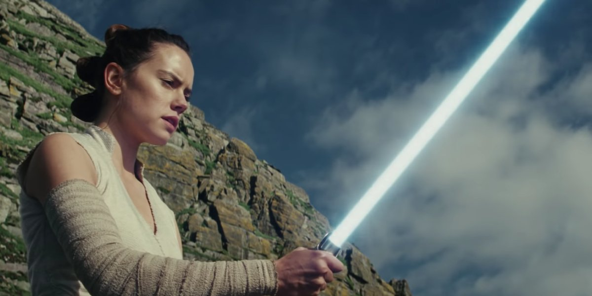 Daisy Ridley in Star Wars: The Last Jedi