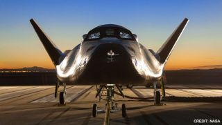 The Dream Chaser space plane designed by Sierra Nevada Space Systems is one of several private space taxis NASA is considering to launch American astronauts on round trips to the International Space Station. A decision is expected in late August or early