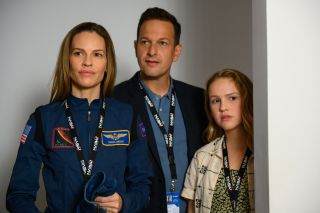 Hilary Swank, Josh Charles and Talitha Bateman in Away on Netflix