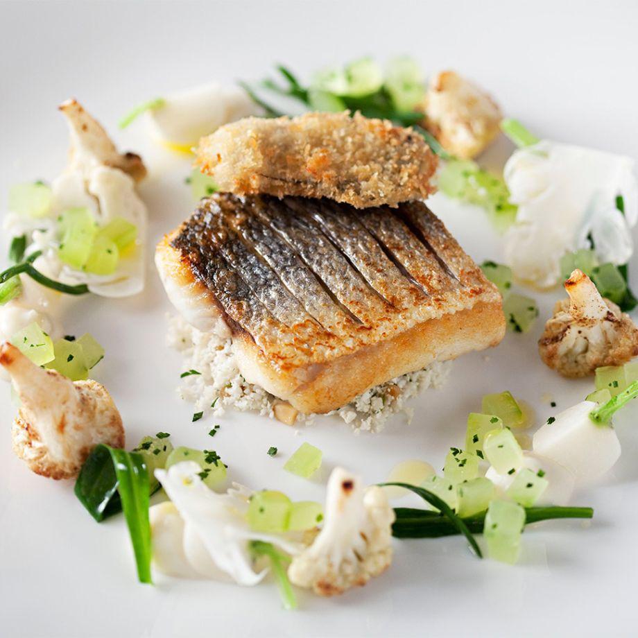 A sea-bass dish at City Social