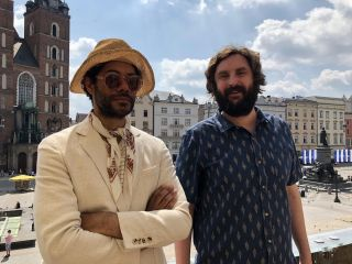 Krakow. Richard Ayoade and Joe Wilkinson.