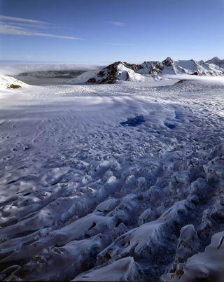 Columbia glacier in Alaska