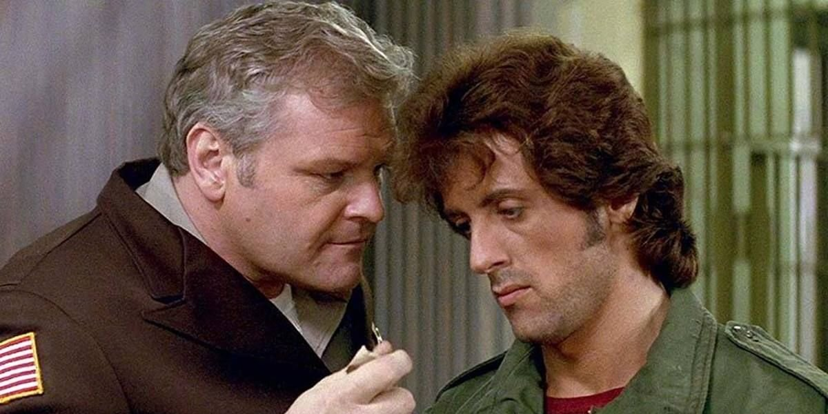 First Blood Brian Dennehy talking down to Sylvester Stallone
