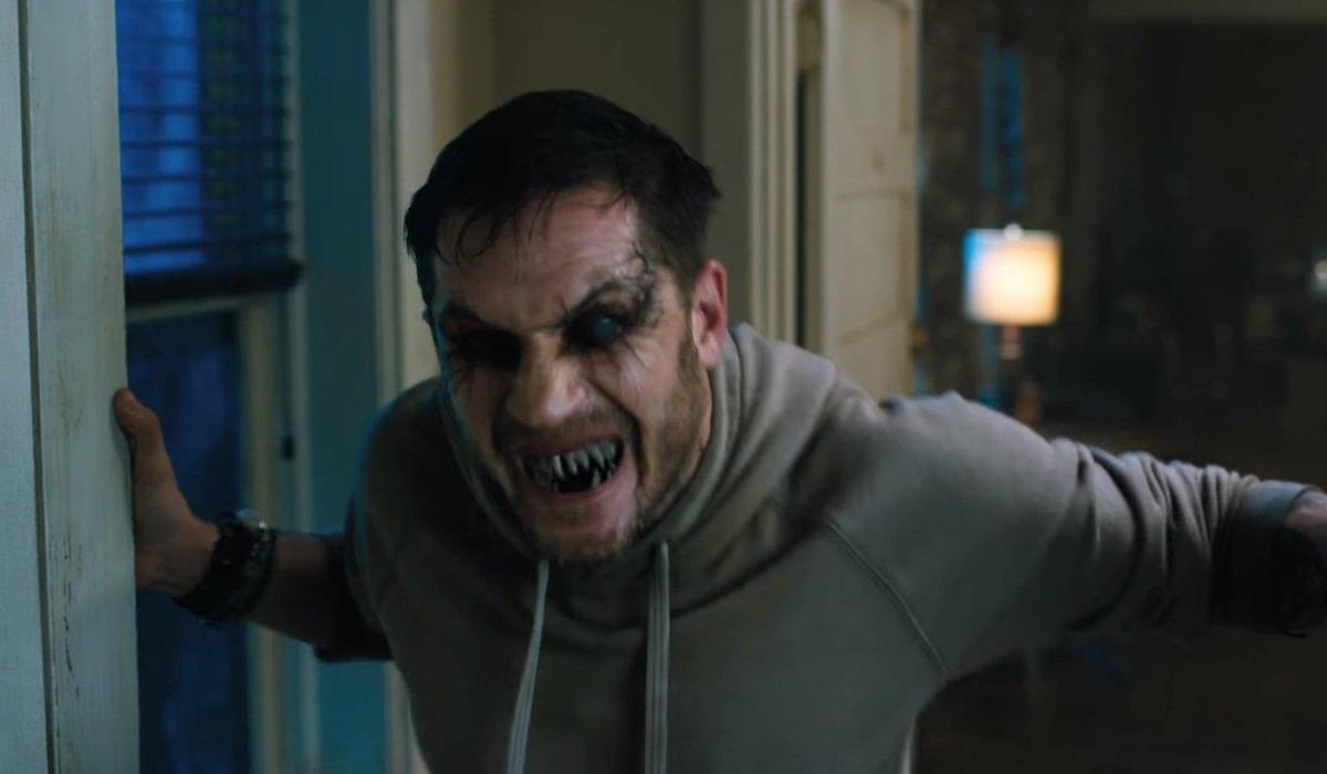 Tom Hardy as Eddie Brock in Venom