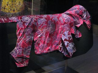 "dog outfit worn by ""Big Luck"" in China's Forbidden City."