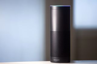 A first-generation Amazon Echo device.
