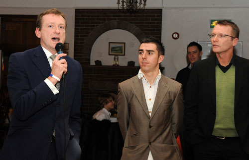 David Harmon, Russell Downing and Geoff Thomas, Downings' Out of the Saddle charity night 2009