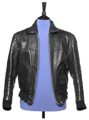 george harrison 39 s early beatles era leather jacket coming up for auction guitarworld. Black Bedroom Furniture Sets. Home Design Ideas