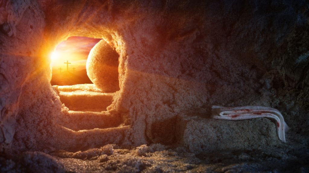 Biblical archaeology, empty tomb.