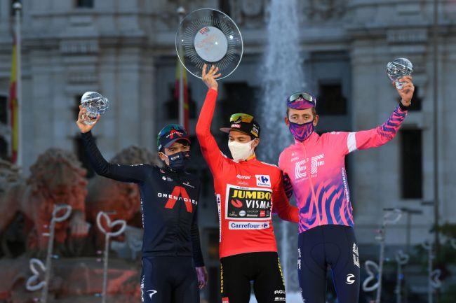 Il podio della Vuelta 2020 (Getty Images)