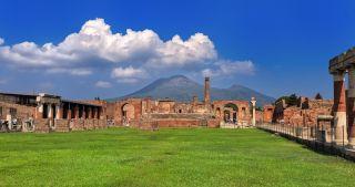 Mount Vesuvius with Pompeii