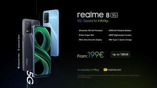 realme 8 5G phone.