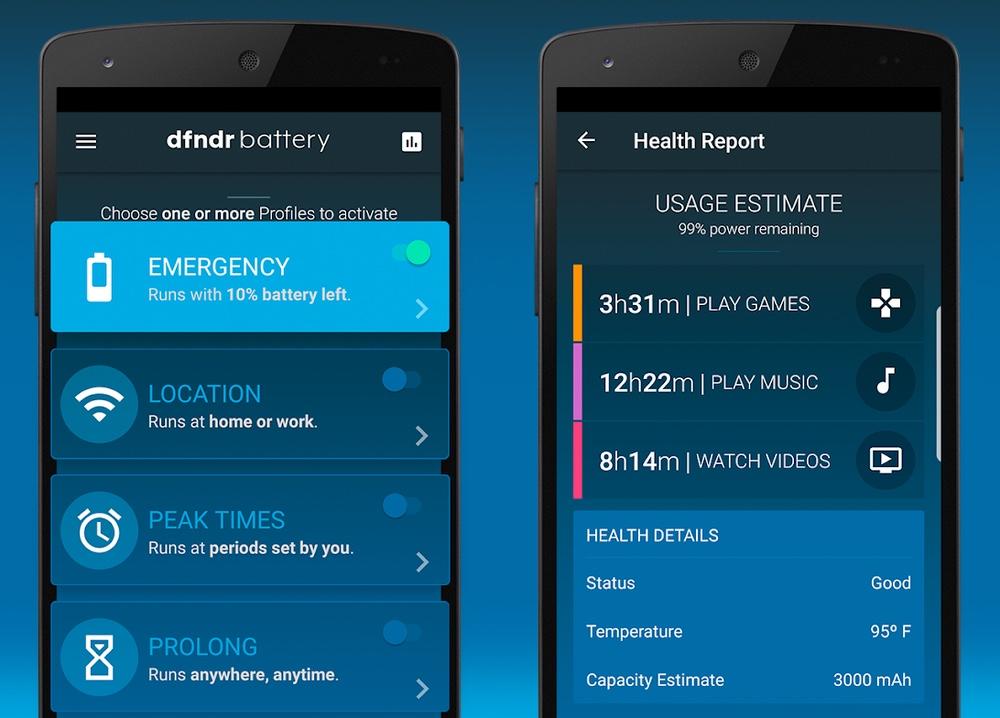 best battery apps: dfndr battery