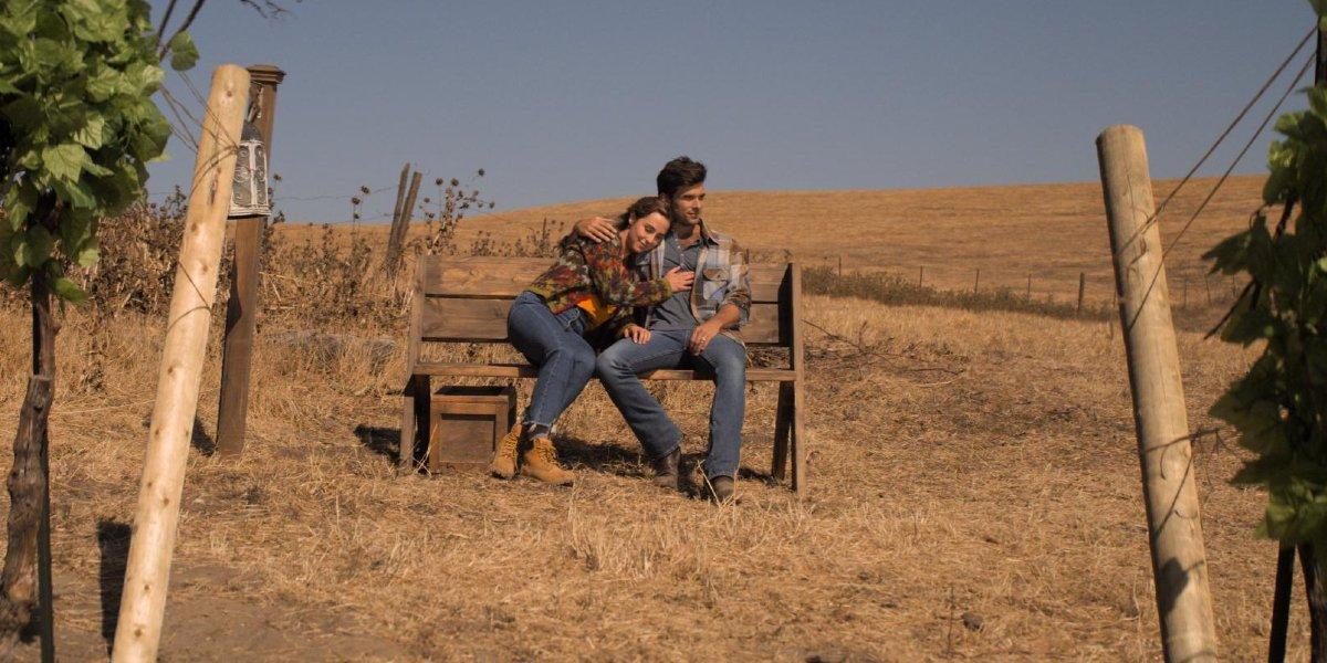Josh Swickard and Lauren Swickard in A California Christmas