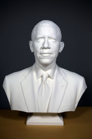 3d-printed bust of obama