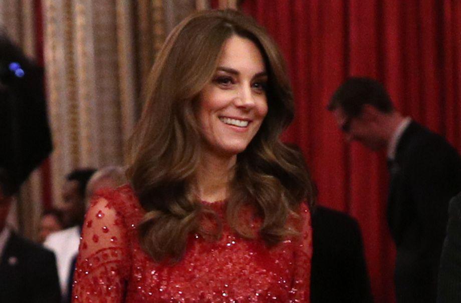 duchess cambridge needle thread gown royal reception