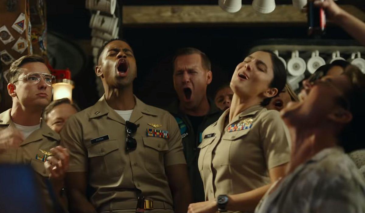 Pilots singing in Top Gun Maverick