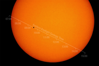 The timeline for the 2016 Mercury transit