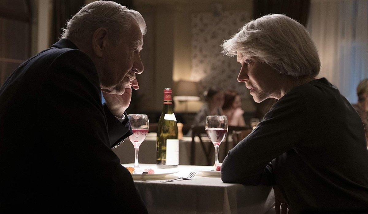 The Good Liar Ian McKellen and Helen Mirren at dinner