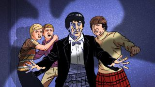 The Doctor and his companions are menaced by a giant crab in The Macra Terror