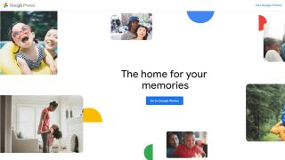 Google Photos' homepage