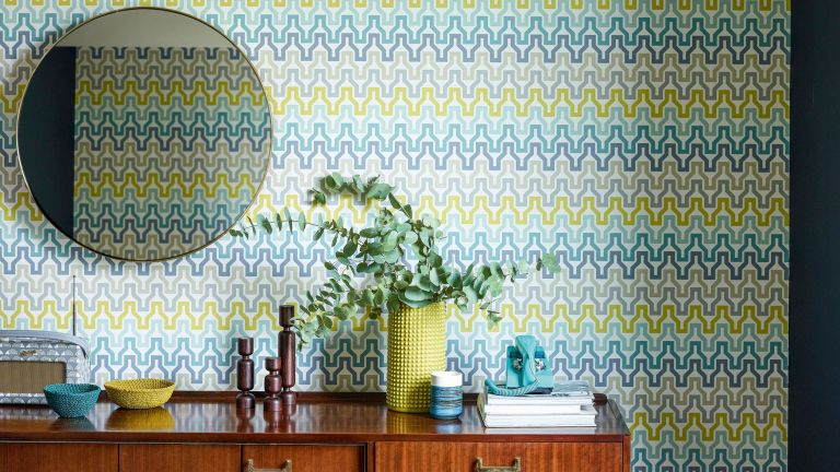 geometric wallpaper from scion
