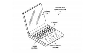 We've seen patents for foldable laptops from the likes of Dell ( Image Credit: USPTO)