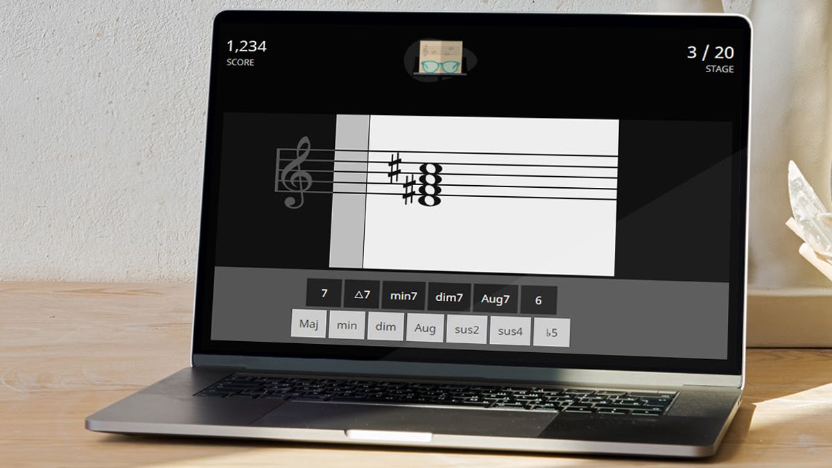 Test and improve your sight-reading skills for free with ToneGym: learn to recognise notes, chords and intervals on sheet music