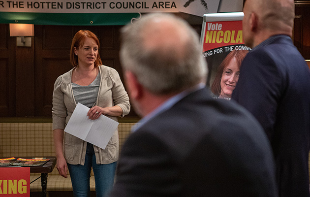 Nicola's left deflated as she learns of her competition for the council in Emmerdale
