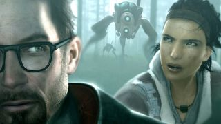 Alyx Vance and Gordon Freeman pursued