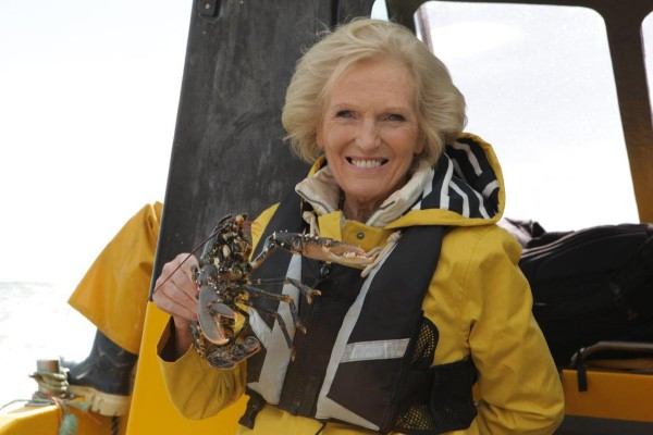 Mary Berry goes fishing for her new TV show, Mary Berry's Foolproof Cooking
